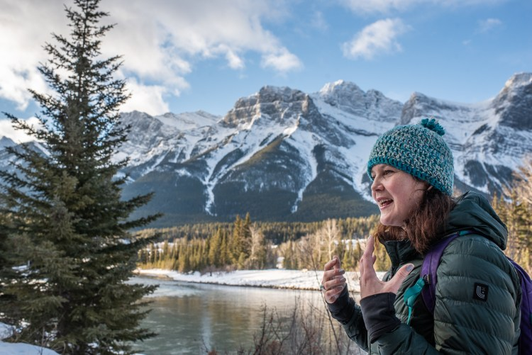 A mother describes some of the challenges her daughter has due to her diagnosis of Rett Syndrome while out for a walk in Canmore, Alberta.