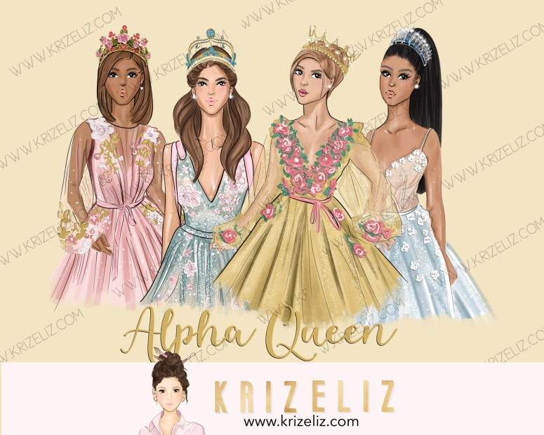 Kriz Eliz Illustrations Alpha Queen Series