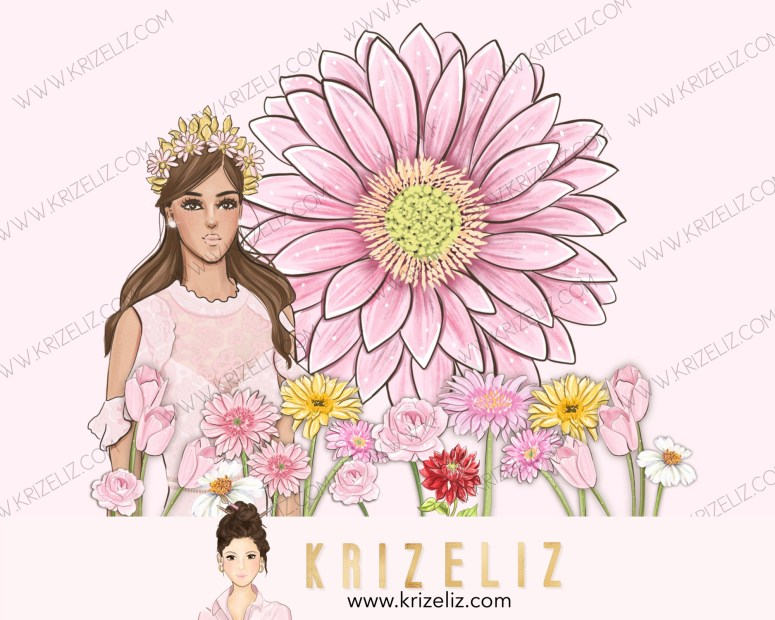 Kriz Eliz Illustrations Flower Garden