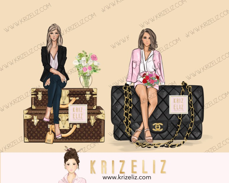 Kriz Eliz Illustrations  Luxury Series