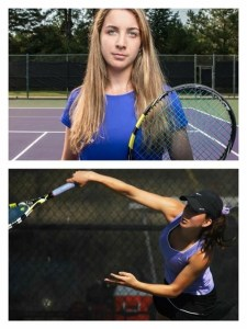 Krizia tennis senior and sophomore