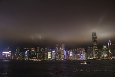 beautiful Hongkong at night..