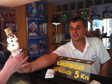 Fagylalt Kakas Rab szigeten