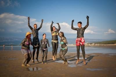Soline öböl gyógyiszapos-homokos strandja