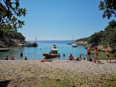 Plavnik, lakatlan szigeten