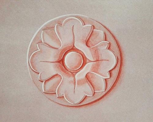Ornement en trompe l'œil peinture décoration création meuble en carton krl l'inventive cartonniste