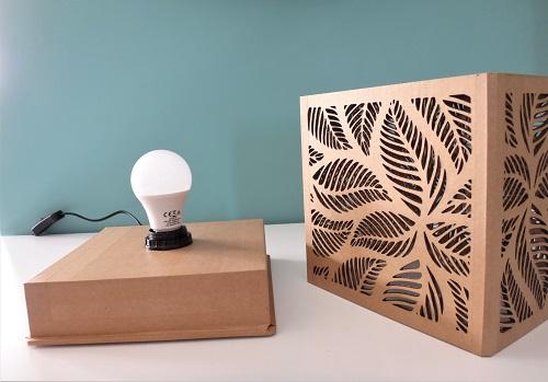 """KRL - Lampe en carton """"végétale"""""""