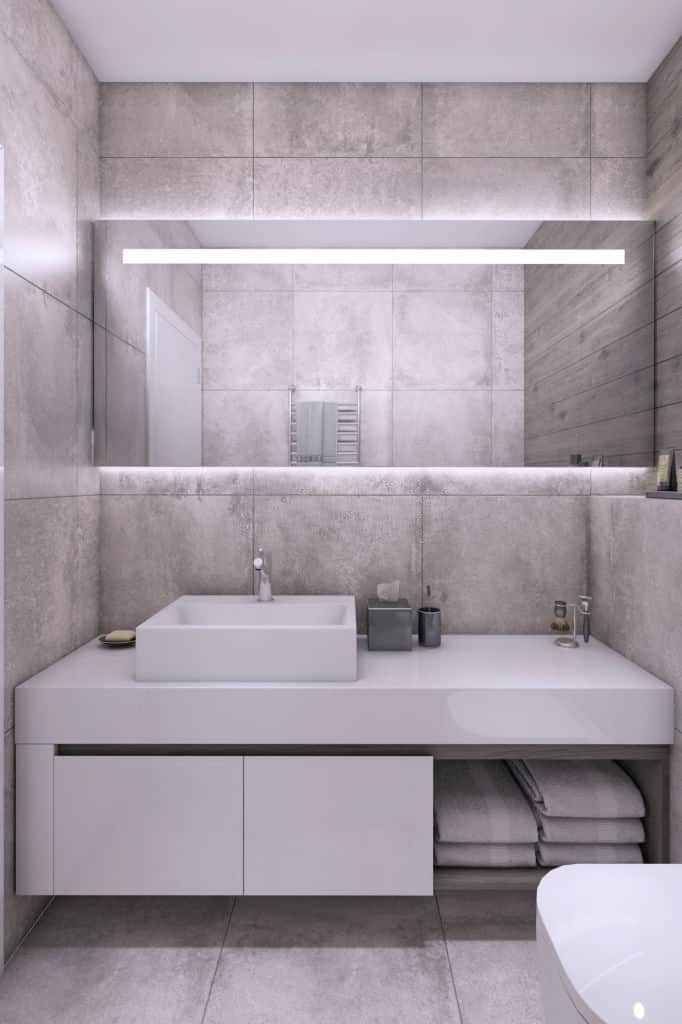 best lighting for bathroom with no