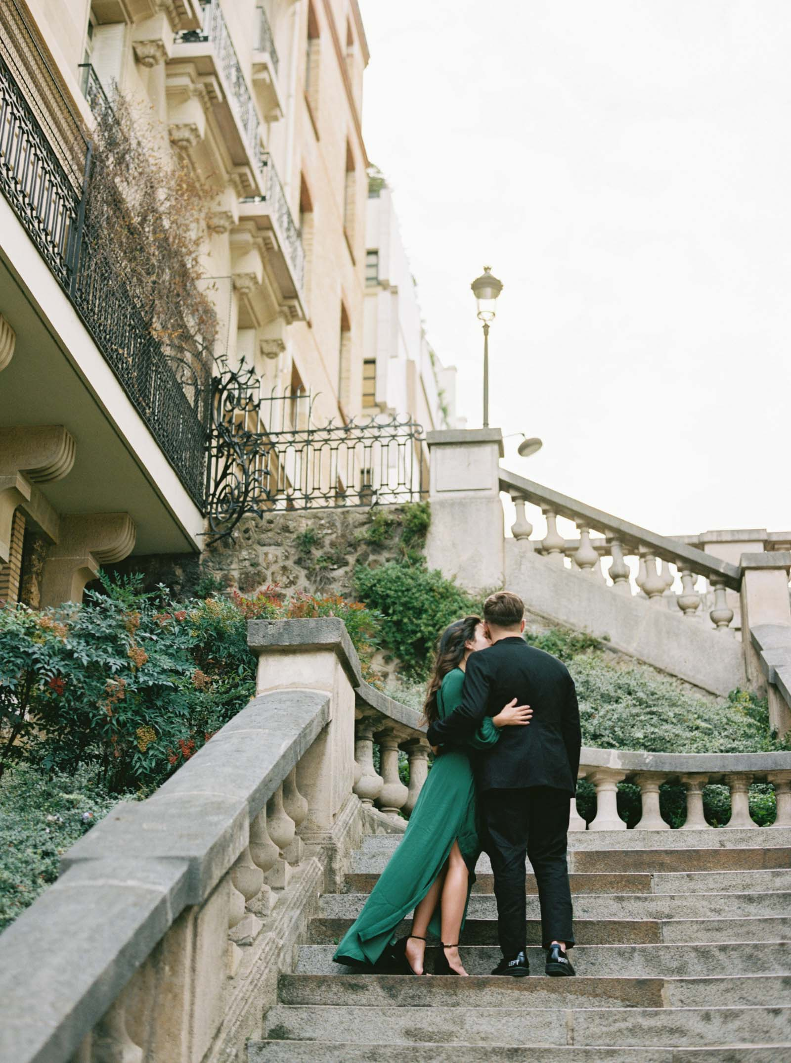 Emerald Green Dress - Engagement Photos - KR Moreno Photo