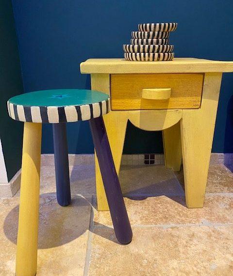 mini table de nuit couleur Tilton CHALK PAINT Annie Sloan