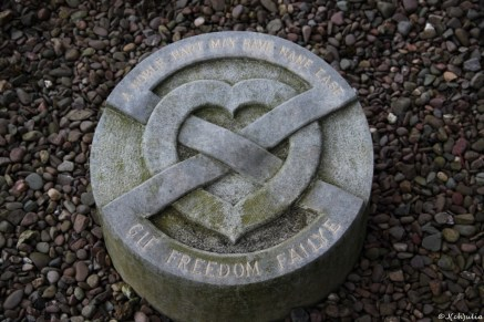 The burial site of Robert the Bruce's heart at Melrose Abbey
