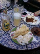 Chocolate Tree's cakes and lemonade...yummie!