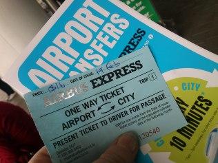 das Ticket schaut aus als hätt ich wie so ein Los...