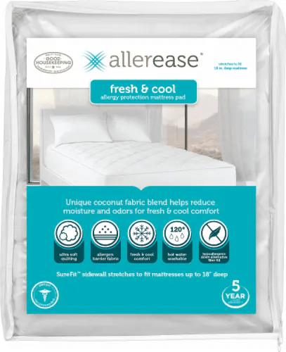 Fred Meyer Bedding : meyer, bedding, AllerEase, Fresh, Allergy, Protection, Mattress, White,, Queen, Meyer