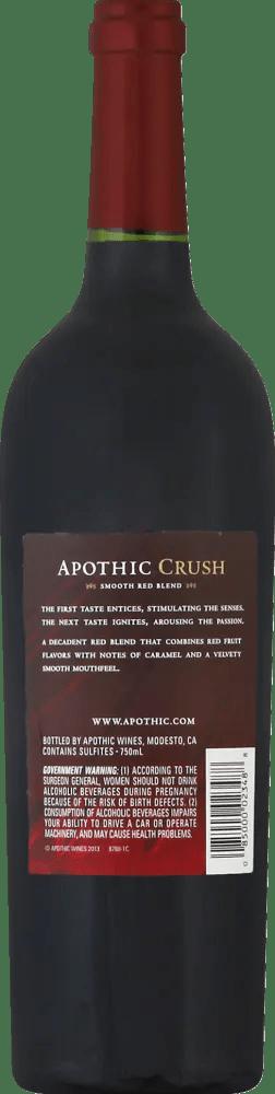 Apothic Red Wine Calories : apothic, calories, Kroger, Apothic, Crush, Blend, 750ml,