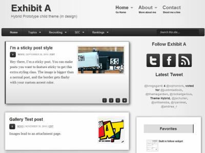 Exhibit A WordPress child theme