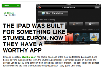 techcrunch right aligned images