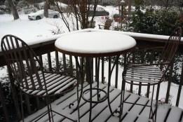 Porch snow