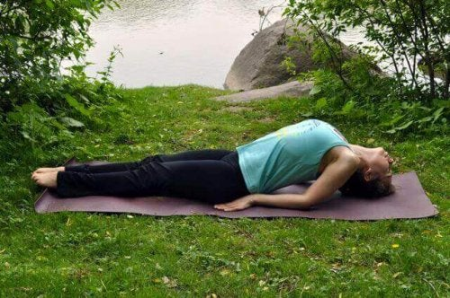 Yoga fish position