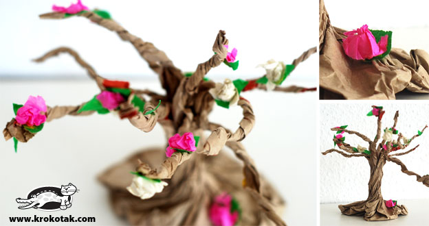 Krokotak Paper Bag BLOSSOMING TREE