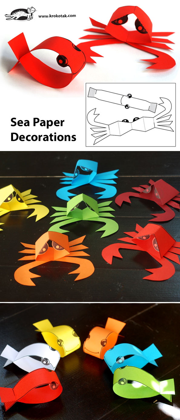 Krokotak Sea Paper Decorations
