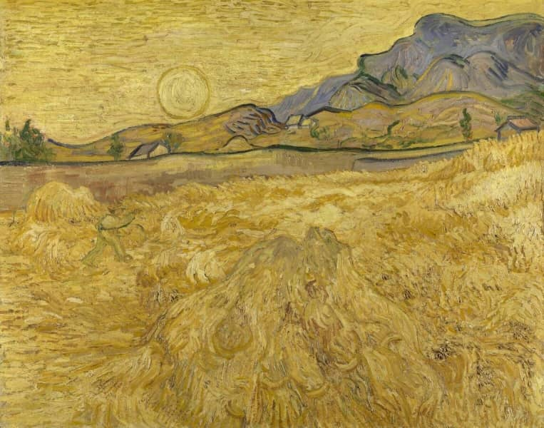 Wheat Field With Reaper And Sun Krller Mller Museum