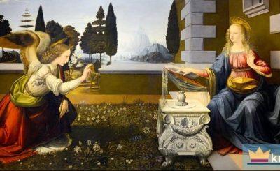 Zwiastowanie Maryi - Leonardo da Vinci