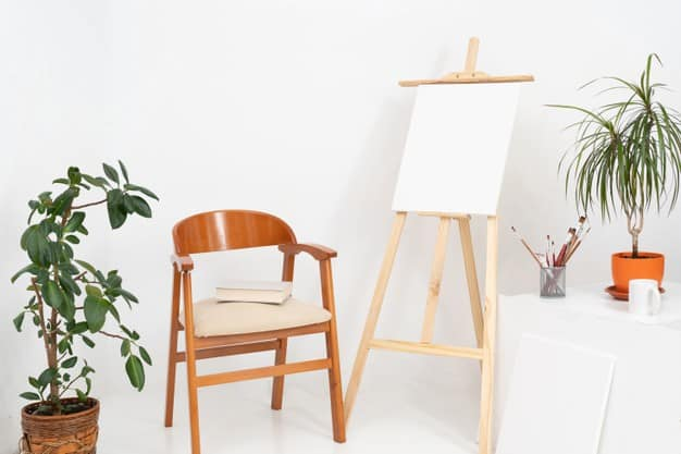 Canvases and Top Table Easel