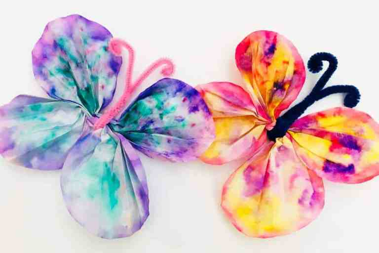 Watercolor Painting Ideas using coffee filters
