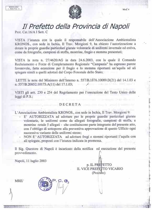 KRONOS NOA ASSOMARE AMBIENTE ONLUS  Associazione