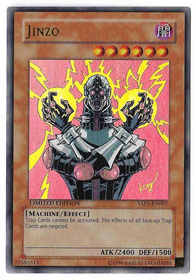 1996 Yugioh Card Jinzo Yap1-En007 Ultra Rare on Kronozio