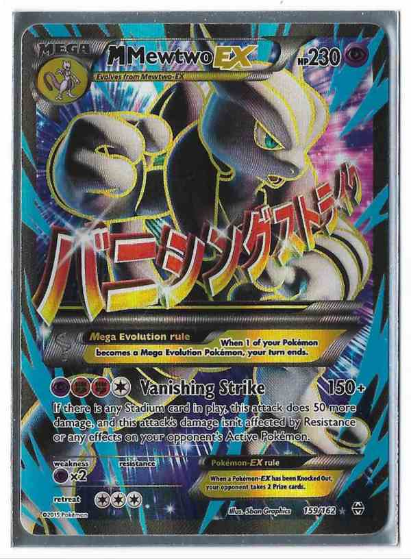 2015 Pokemon Card Mega Mewtwo 159 162 Full Art Pack