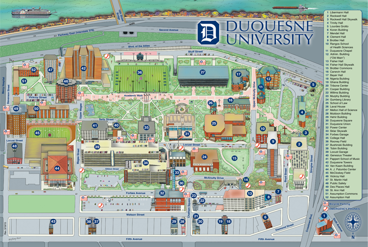 Duquesne University Map Kathy Rooney – Maps & Design