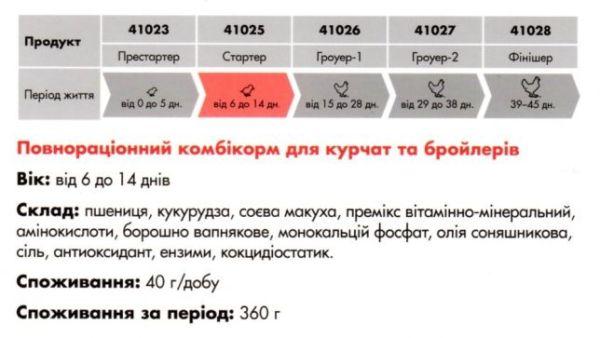fde6fa0f53fe51 41025 Готовий корм для бройлерів стартер 10 кг – kropyva.com.ua