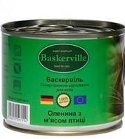 Консерва Баскервіль д/котів зі смаком оленини та м'яса птиці 200г