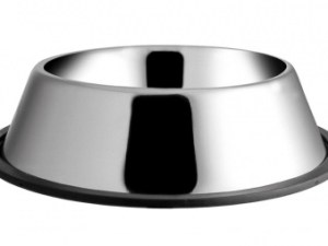 Миска металева на резинці 0,90 л 18 см ММ04