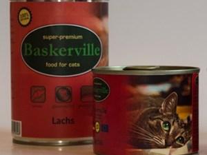 Консерва Баскервіль д/котів зі смаком лосося 400г