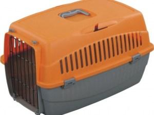 Переноска д/котів OGGI М помаранчева 54x38x33 см T24М
