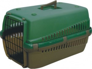 Переноска д/котів OGGI S зелена 49х33х30см T10S