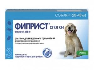 ФИПРИСТ, спот он, для собак, 268мг/2,68мл №3 (20-40 кг)