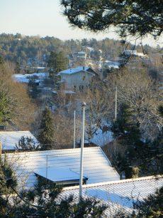 Vi kan se Berggrens och Engstams hus.