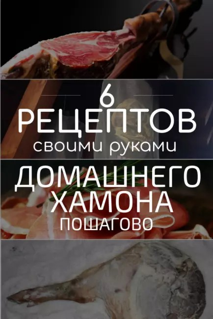 TOP-6 Recipes for making pork jamon at home: a step-by-step description of how to make a meat delicacy from Spain (Photo & Video) + Reviews