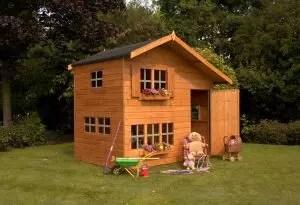 자신의 손으로 아이들의 집을 만드는 방법 : 나무와 다른 재료로부터. 치수가있는 그림 | (80 개의 아이디어 및 비디오의 사진)