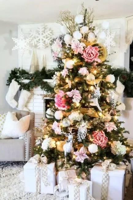 Stilig og moderne bilde kan opprettes fra gull og rosa farger