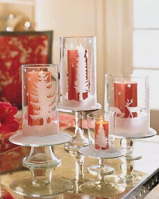 Noeldlesticks-bardağın Noel dekorasyonu