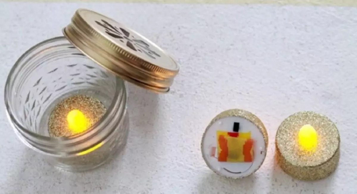 Candle inside the bank