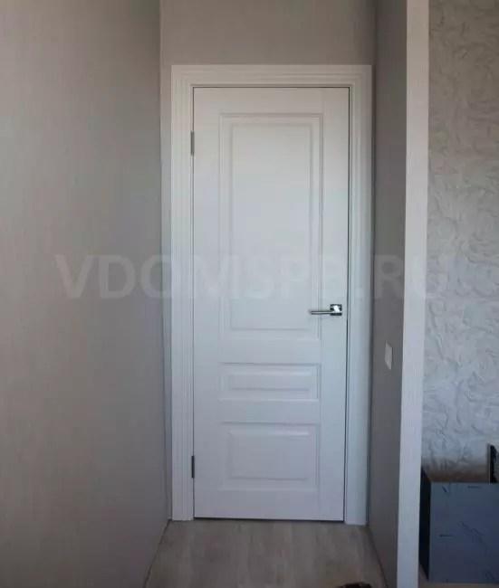 Rice6 tre-fledged dörr med snidad calkomi i PVC-ytbehandling