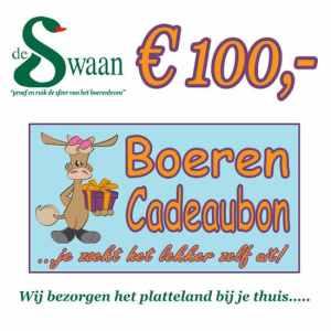 Boeren Cadeaubonnen 100 - Een Cadeaubon is het ideale kerstpakket voor elke medewerker - Bestel bij BoerenCadeaubon- www.Krstpkkt.nl