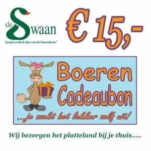 Boeren Cadeaubonnen 15 - Een Cadeaubon is het ideale kerstpakket voor elke medewerker - Bestel een BoerenCadeaubon- www.Krstpkkt.nl
