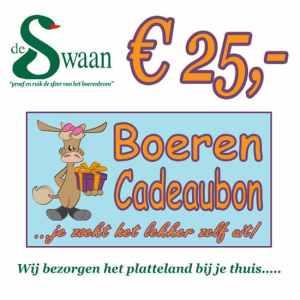 Boeren Cadeaubonnen 25 - Een Cadeaubon is het ideale kerstpakket voor elke medewerker - Bestel een BoerenCadeaubon- www.Krstpkkt.nl